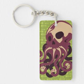 Skull Octopus Single-Sided Rectangular Acrylic Keychain