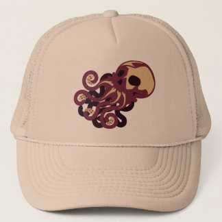 Skull Octopus Trucker Hat