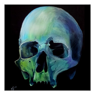 Skull of a different color poster