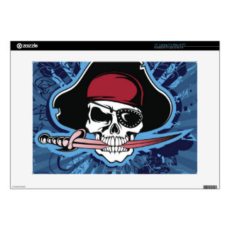 Skull of a Pirate Decal For Laptop