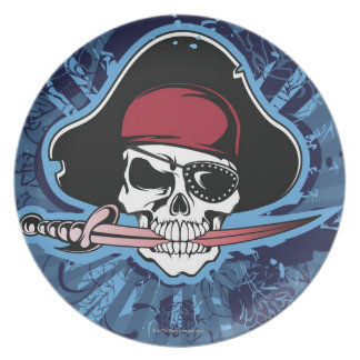 Skull of a Pirate Plate