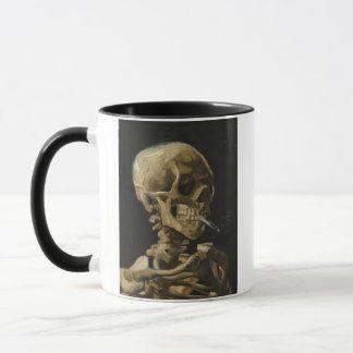 Skull of a Skeleton with a Burning Cigarette by Va Mug