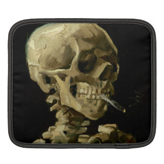 Skull of a Skeleton with Burning Cigarette by Vinc iPad Sleeves