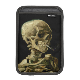 Skull of a Skeleton with Burning Cigarette by Vinc iPad Mini Sleeves