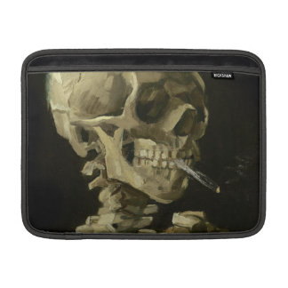 Skull of a Skeleton with Burning Cigarette by Vinc MacBook Air Sleeve