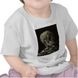 Skull of a Skeleton with Burning Cigarette Tee Shirt