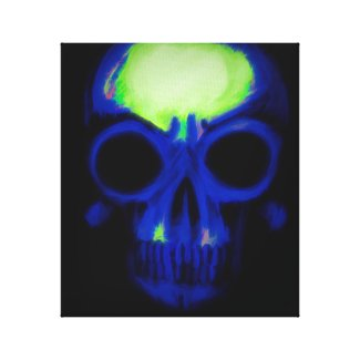Skull of E.T. Blue Variant Canvas Print