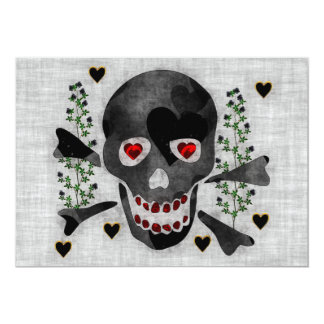 Skull of Hearts Card