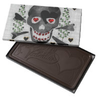 Skull of Hearts Dark Chocolate Bar