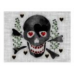 Skull of Hearts Postcards