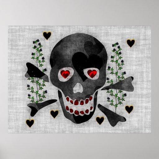 Skull of Hearts Poster
