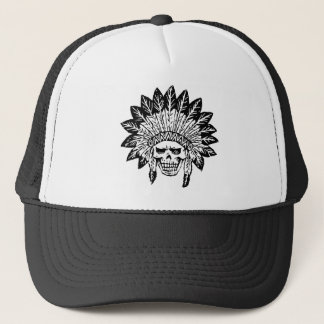 Skull Of Indian Trucker Hat
