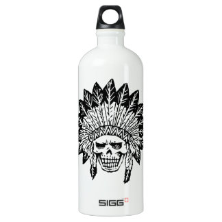 Skull Of Indian Water Bottle