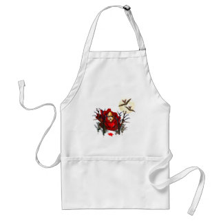 Skull Of Love and Bats Adult Apron