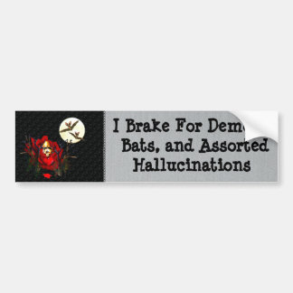 Skull Of Love and Bats Bumper Sticker