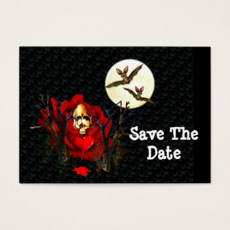 Skull Of Love and Bats Business Card