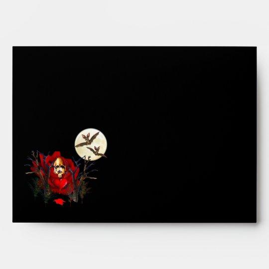 Skull Of Love and Bats Envelope
