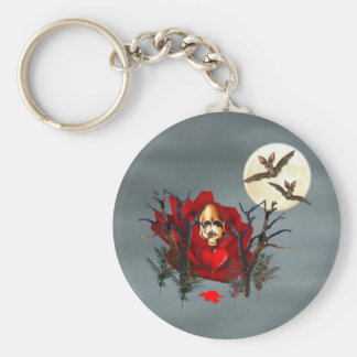 Skull Of Love and Bats Key Chains
