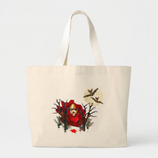 Skull Of Love and Bats Tote Bags