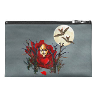 Skull Of Love and Bats Travel Accessories Bag