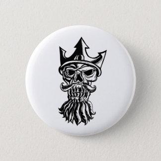 Skull of Neptune Sratchboard Pinback Button