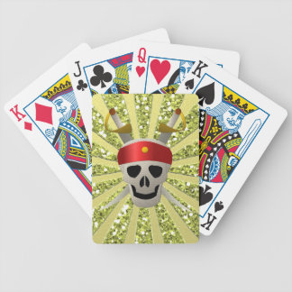 Skull of pirate bicycle playing cards