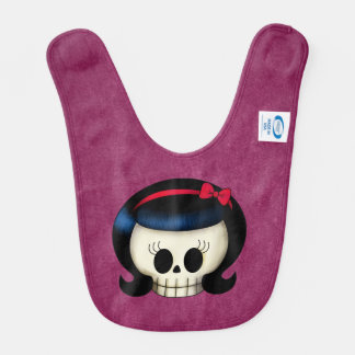 Skull of Rockabilly Girl Baby Bib
