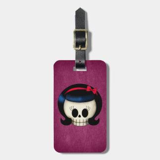 Skull of Rockabilly Girl Bag Tag