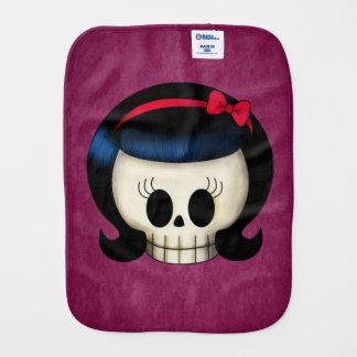Skull of Rockabilly Girl Burp Cloth