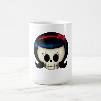 Skull of Rockabilly Girl Classic White Coffee Mug
