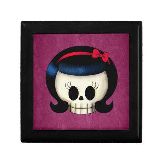 Skull of Rockabilly Girl Keepsake Box