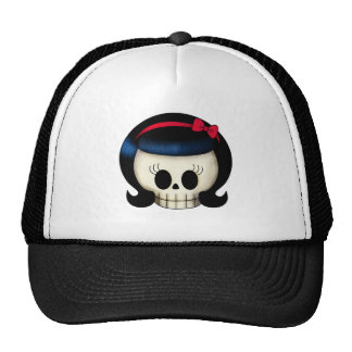 Skull of Rockabilly Girl Trucker Hat