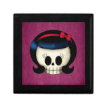 Skull of Rockabilly Girl Jewelry Boxes