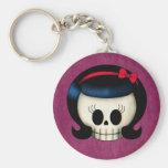 Skull of Rockabilly Girl Keychains