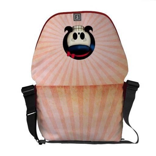 Skull of Rockabilly Girl Messenger Bag