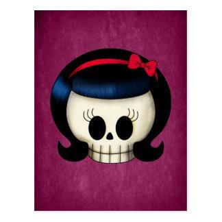 Skull of Rockabilly Girl Postcard