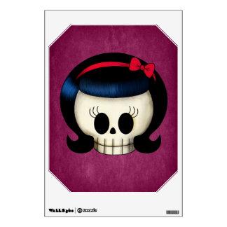 Skull of Rockabilly Girl Wall Sticker