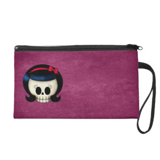 Skull of Rockabilly Girl Wristlet