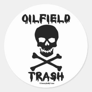 Skull, Oilfield Trash,Sticker,Oil Classic Round Sticker