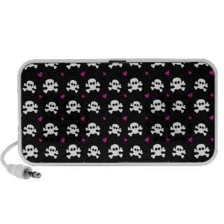 skull on black iPhone speakers