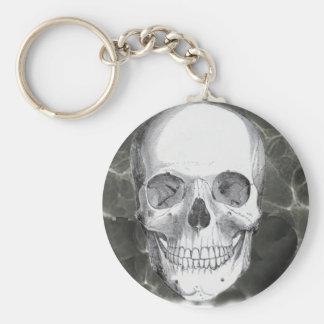 Skull on black keychain