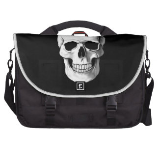 Skull on Black Laptop Commuter Bag