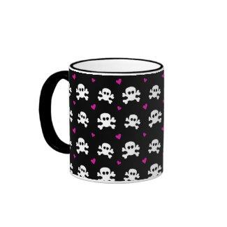 skull on black mug
