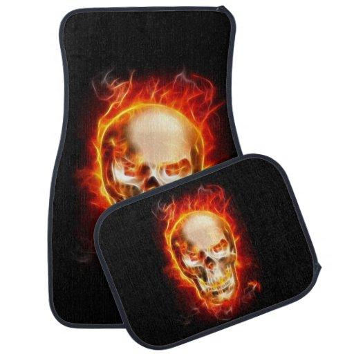 Skull On Fire #2 Car Mat | Zazzle