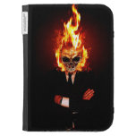 Skull on fire kindle cover