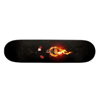 Skull on fire planche à roulette customisée