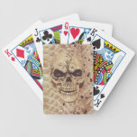 skull on snakeskin playing cards