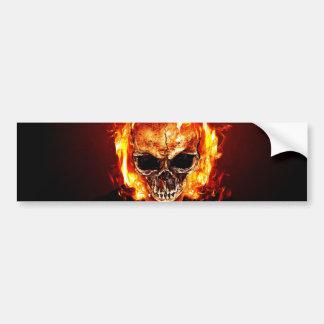 Skull one fire bumper sticker