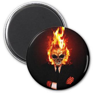 Skull one fire magnet