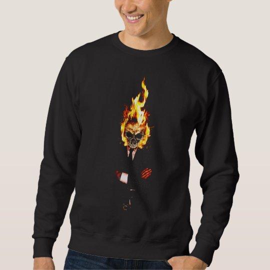 Skull one fire sweatshirt